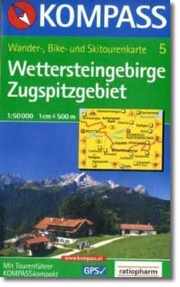 Wettersteingebirge Zugspitzgebiet 1 : 50 000