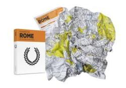 Rome Crumpled City Map