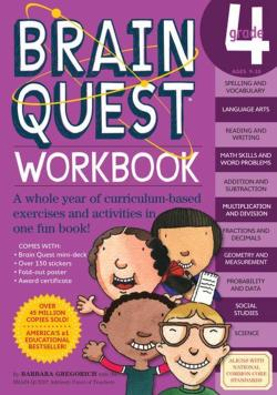 Brain Quest Workbook: Grade 4 [With Over 150 Stickers and Mini-Card Deck and Fold-Out