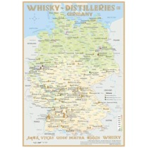 Whisky Distilleries Germany Poster 60 x 42cm