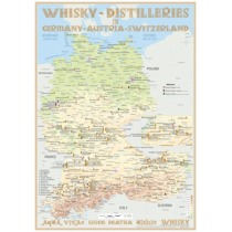Whisky Distilleries Germany-Austria-Switzerland Poster 60 x 42cm
