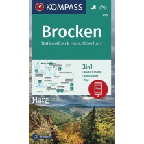Brocken, Nationalpark Harz, Oberharz 1:25 000