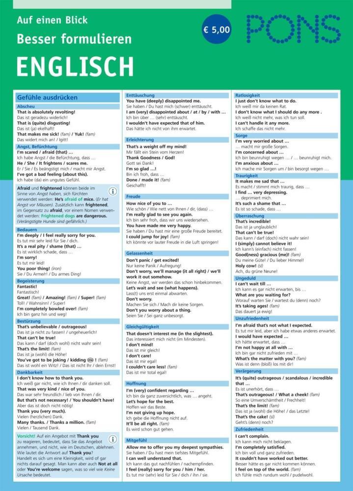 Besser kennenlernen auf englisch