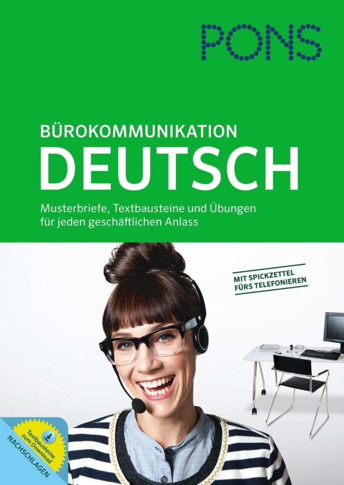 Musterbriefe Deutsch : Pons bürokommunikation deutsch musterbriefe