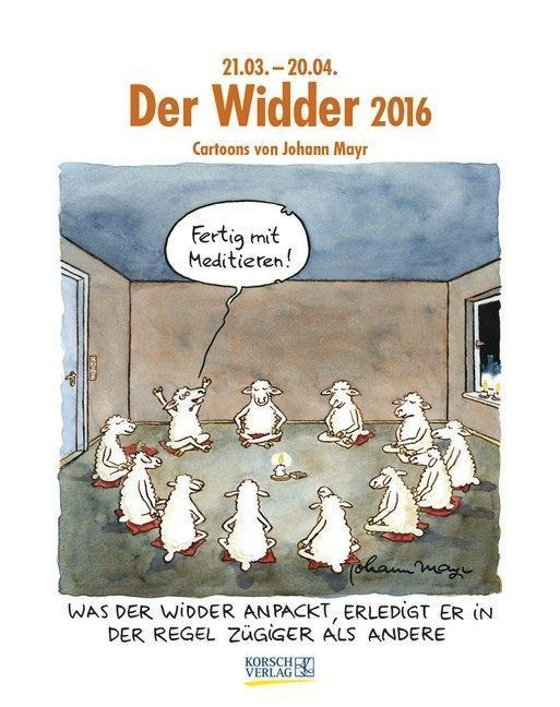 widder 2016 sternzeichen cartoonkalender von korsch verlag gmbh. Black Bedroom Furniture Sets. Home Design Ideas