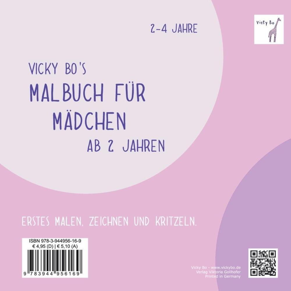 Vicky Bo\'s Malbuch für Mädchen. Ab 2 bis 4 Jahre - Malheft gegen ...