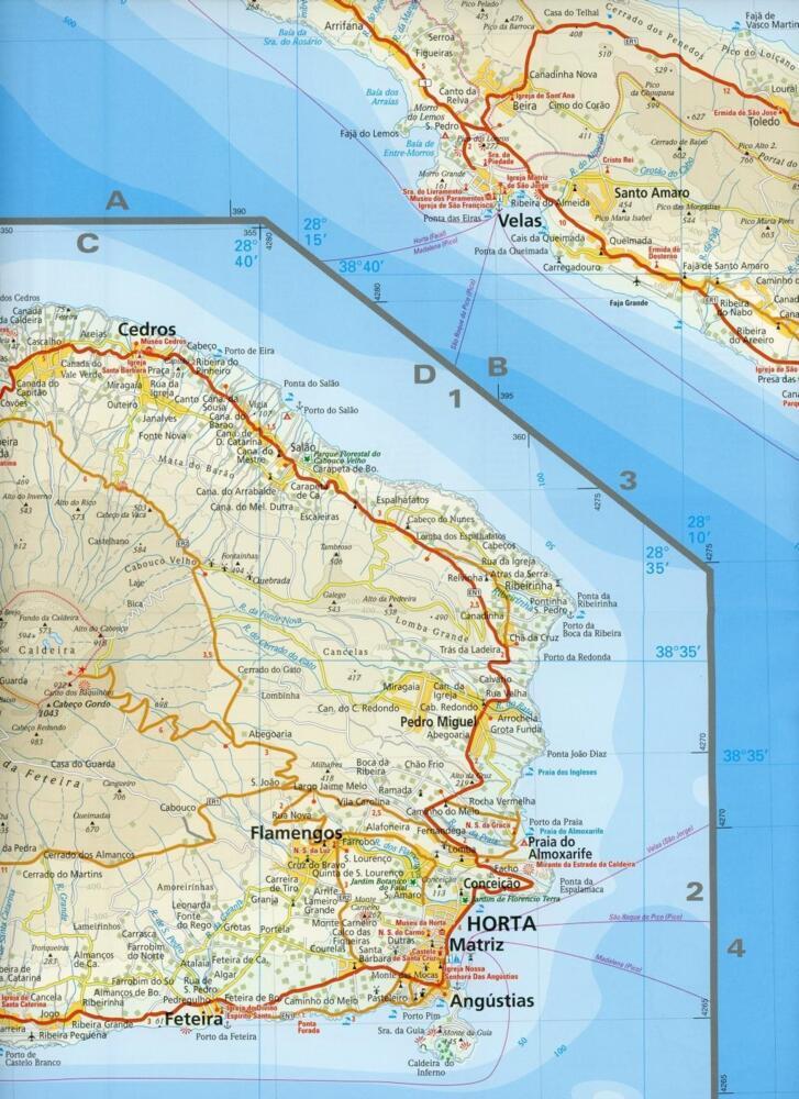 Azoren Karte Weltatlas.Reise Know How Landkarte Azoren 1 70 000 Von Reise Know How Rump