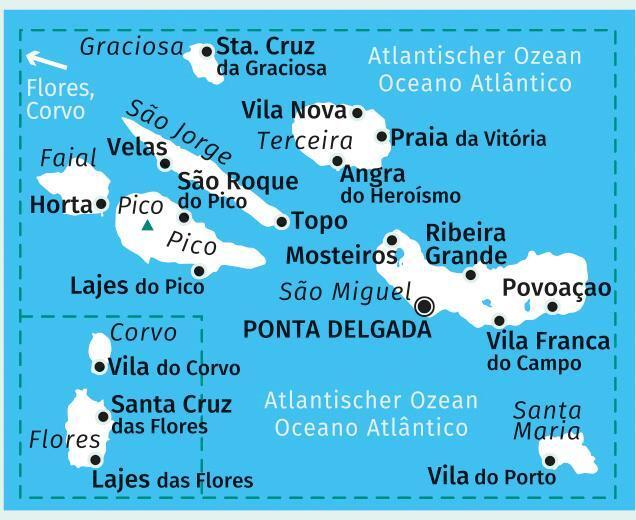 Azoren Karte Weltatlas.Azoren 1 50 000 Von Kompass Karten Gmbh Buch24 De