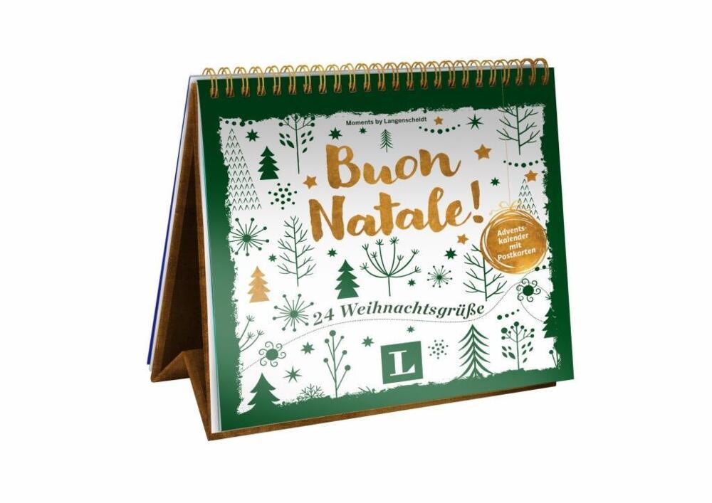 Weihnachtsgrüße Italienisch übersetzung.Buon Natale Adventskalender Mit Postkarten Von Langenscheidt Gmbh